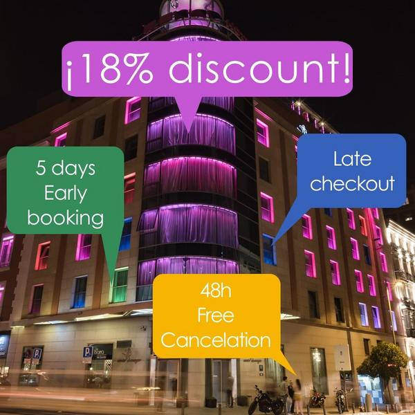 Early booking 18%